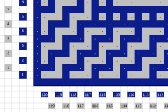 Pattern bottom border left - front