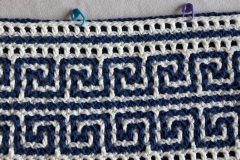 Preparing: placing markers before crocheting row 30b