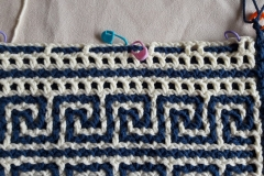 Preparing: placing markers before crocheting row 31a