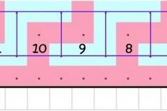 Squares of row 1b