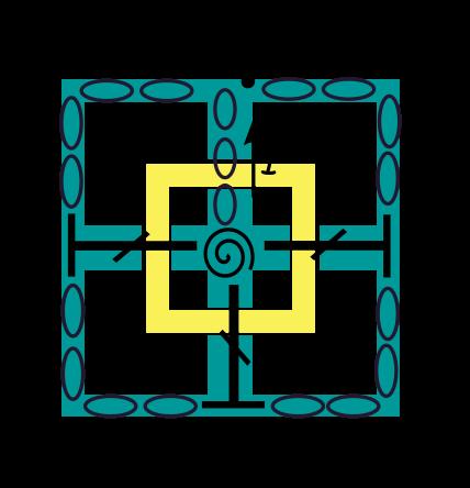 Row 1 crochet symbols