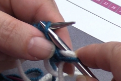 04 Row 2a 03 slip third stitch with yarn at wrong side