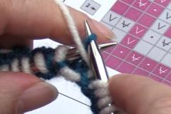 05 Row 2b 14 slip the stitch