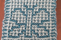 Butterfly in regular garter mosaic knitting