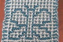 Butterfly in regular garter mosaic knitting