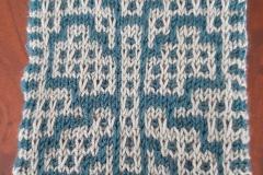 Butterfly in regular stockinette mosaic knitting