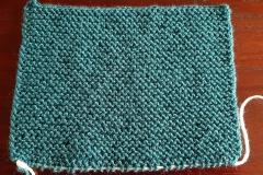 Sample in garter stitch