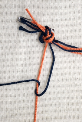 (Double) left knot - step 2
