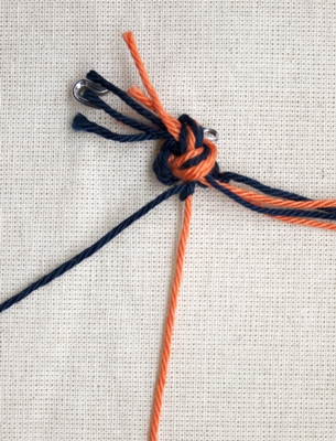(Double) left knot - step 3