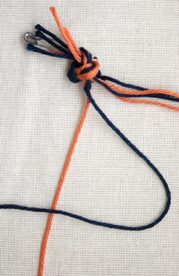 (Double) left knot - step 4