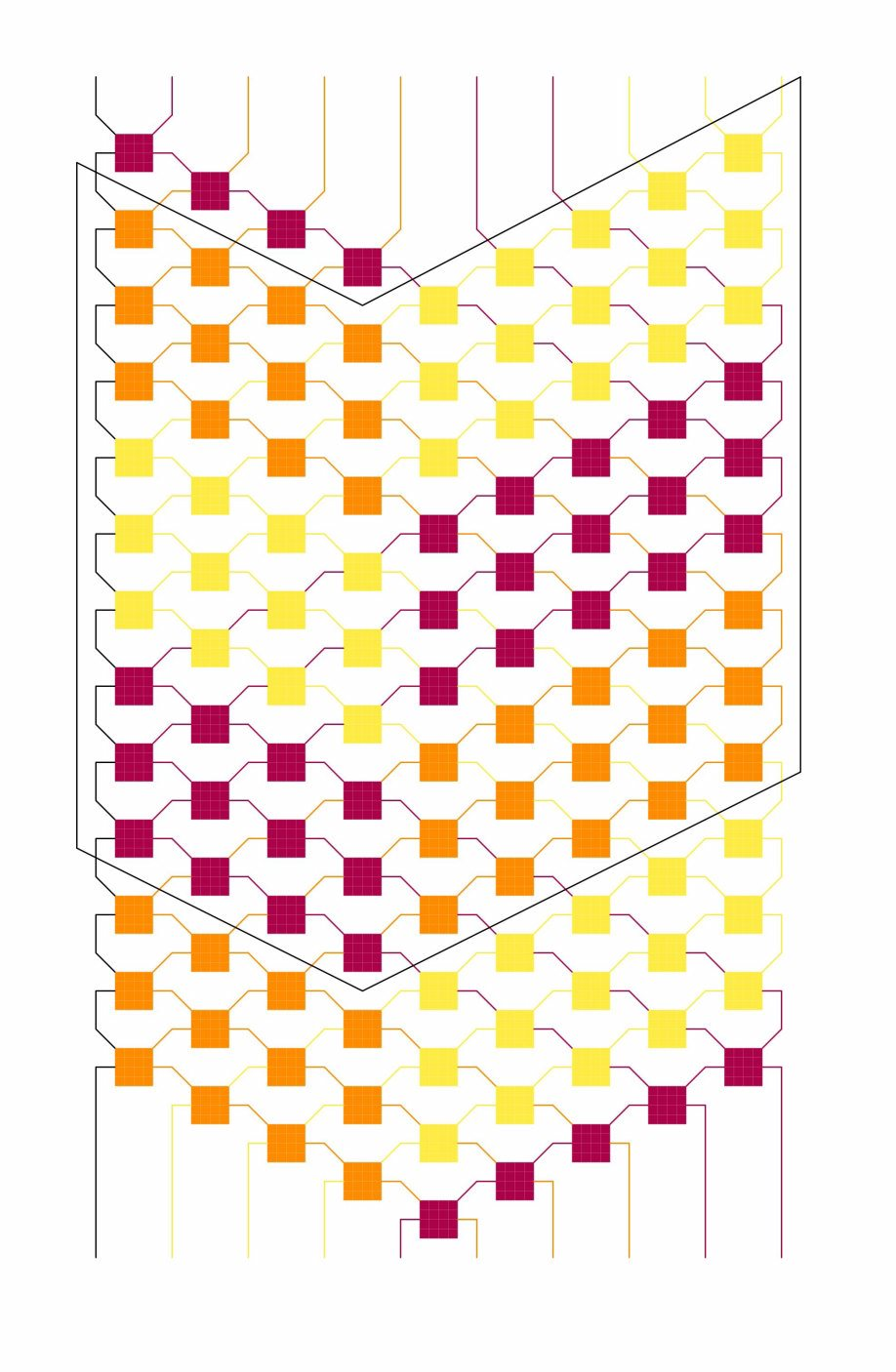 3-Colored stripes pattern