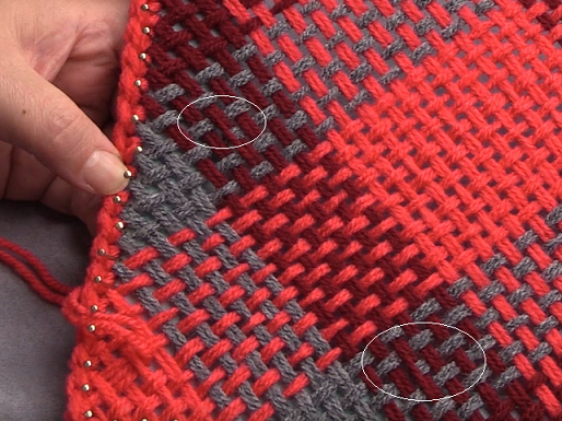 Weaving On The Bias On A Pin Loom Correcting Errors The Craftsteacher