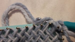 Yarn over the crochet hook