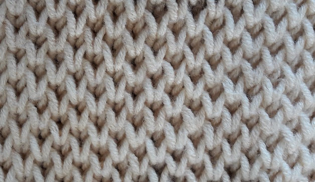 The Honeycomb Brioche Stitch In Another Way With The Knit 1 Below