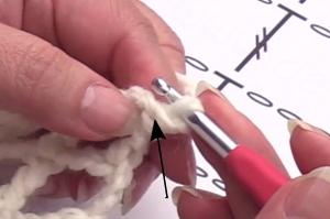 Insert for first slip stitch